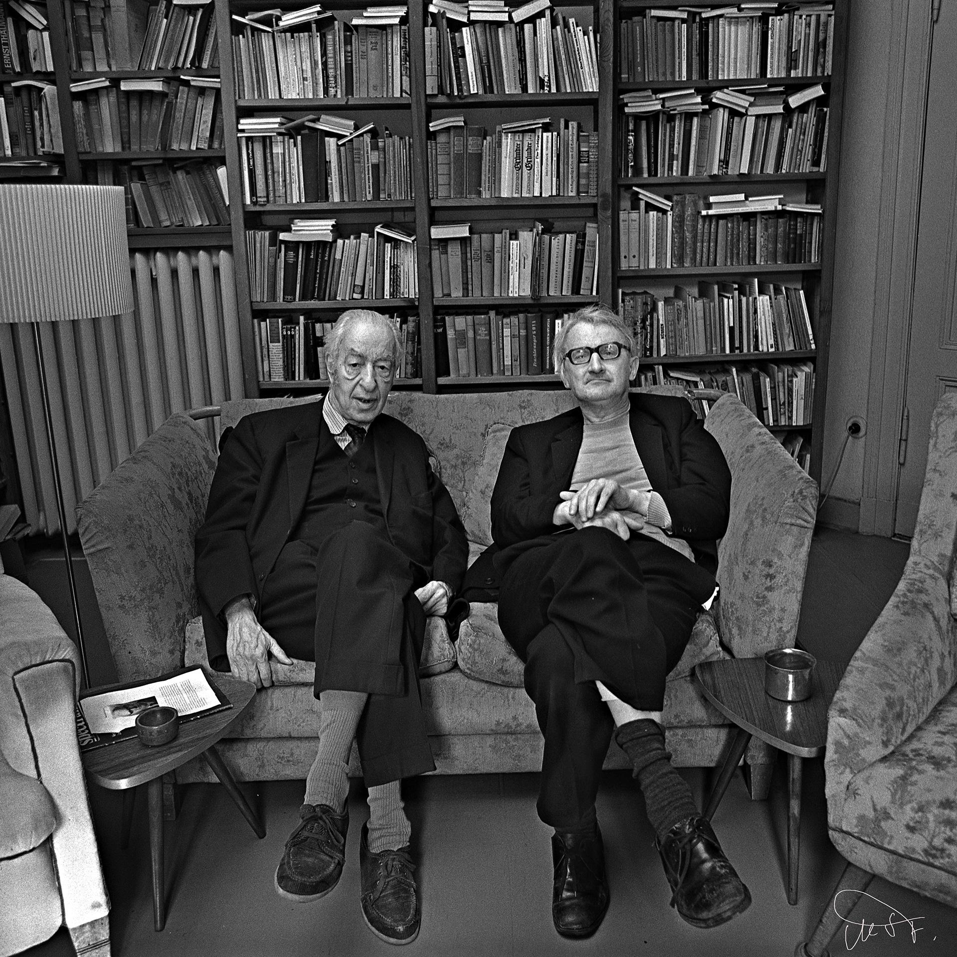 Prof Treder und Jürgen Kuczynski