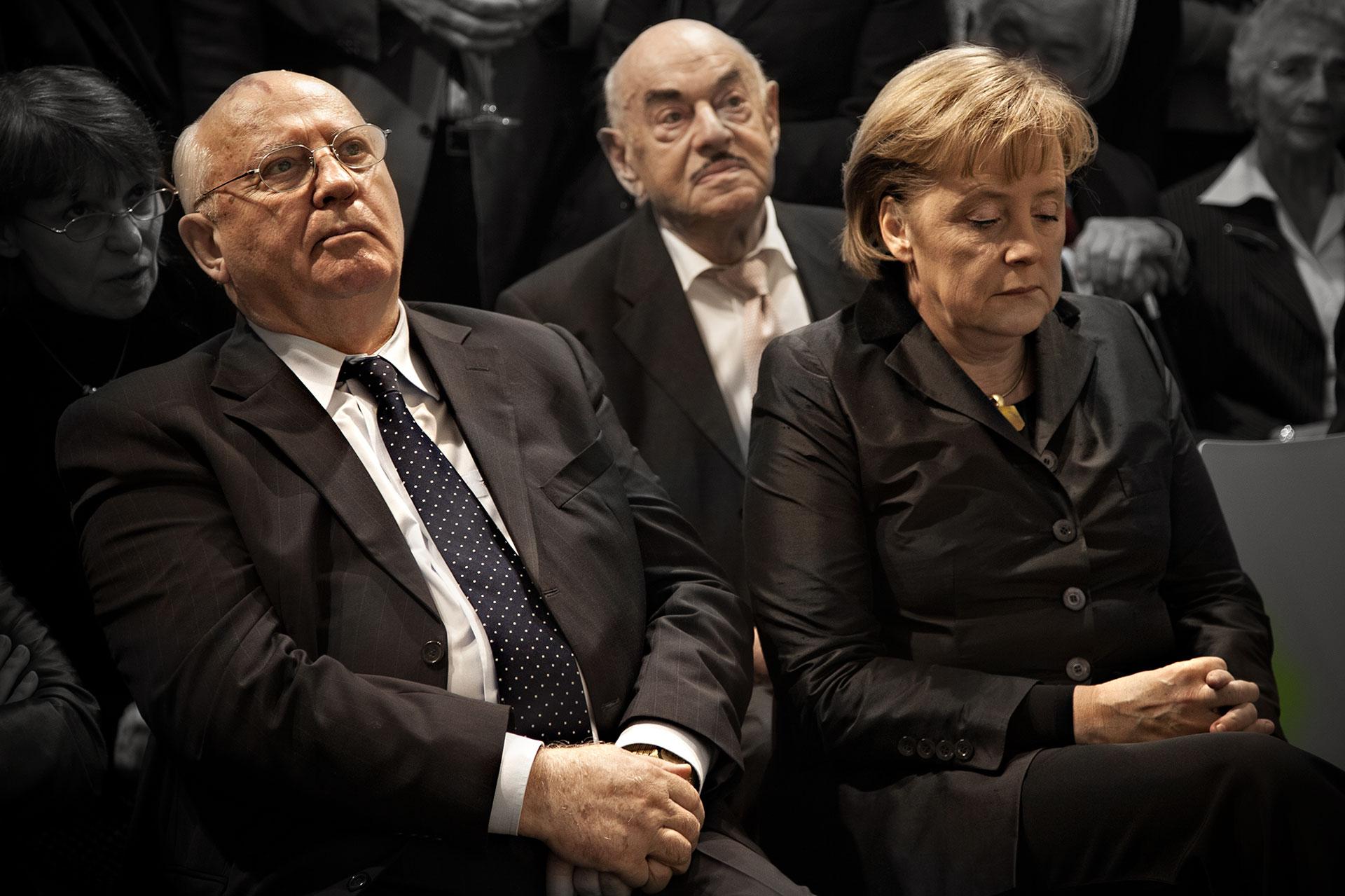 Michael Gorbatschow u Angela Merkel