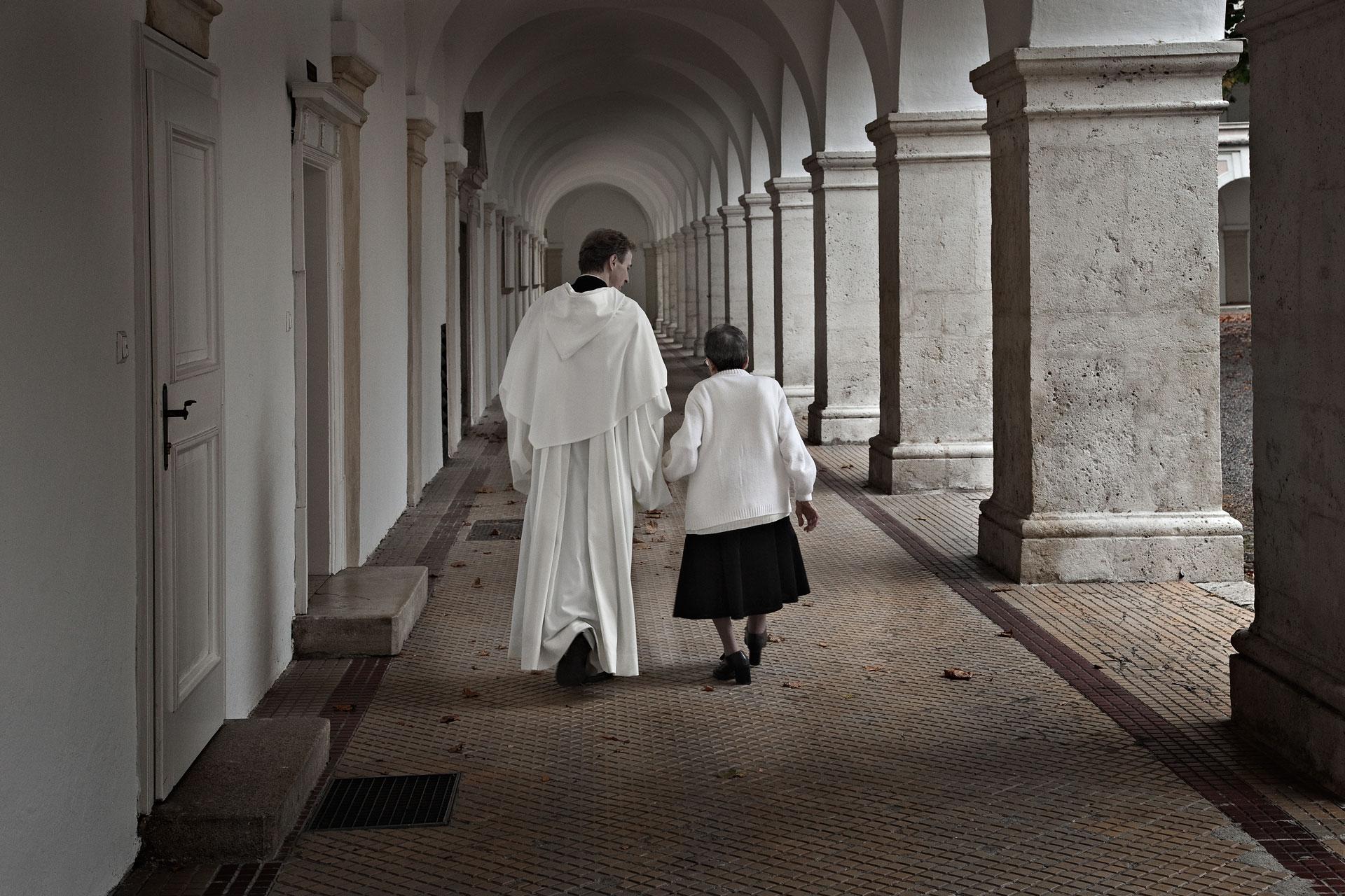 Pater Raphael mit Mutter